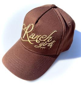 RANCHGIRLS CAP brown   gold #2111