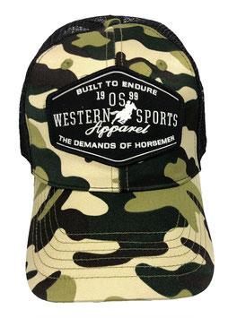 OSWSA BRIGHT CAMOU  TRUCKER CAP #20030C