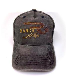 RANCHGIRLS CAP black   copper FADE OUT #2119RG