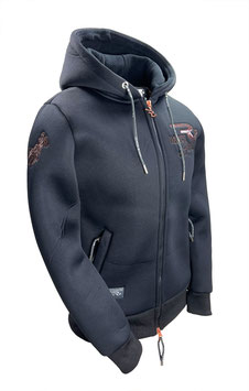 """RANCHGIRL HOODED THERMO JACKET  """"STACY"""" black"""