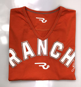 """RANCHGIRL T-SHIRT """"Rihanna"""" neon orange"""
