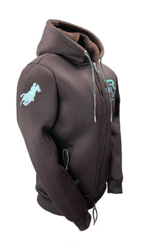 """RANCHGIRL HOODED THERMO JACKET  """"STACY"""" brown"""