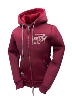 """RANCHGIRL HOODED THERMO JACKET  """"STACY"""" wine"""
