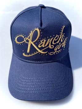 RANCHGIRLS CAP navy   gold #2101