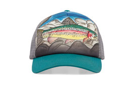 "Sunday afternoons Kid's Artist Series Trucker ""rainbow trout"""