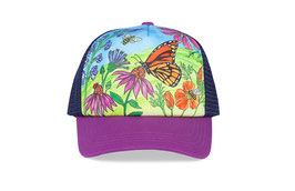 "Sunday afternoons Kid's Artist Series Trucker ""butterfly and bees"""