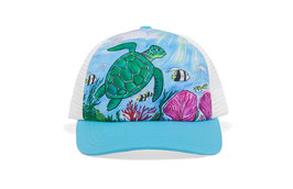 "Sunday afternoons Kid's Artist Series Trucker ""sea turtle"""