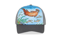 "Sunday afternoons Kid's Artist Series Trucker ""river otter"""