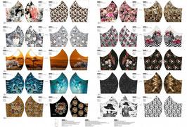 Masken-Panel für Erwachsene/Frauen,  Katzen/Zebra, 3,50€ der Streifen