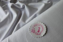 Jersey uni weiß, Grundpreis: 12,90€/m