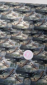 Jersey mit Doppeldeckern, Air Force von Stenzo, Grundpreis: 17,90€/m