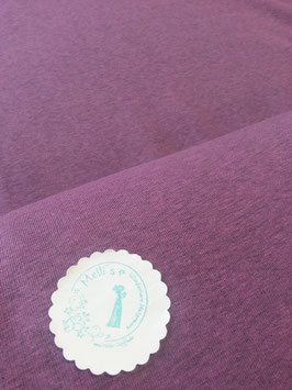 Jersey uni rosa meliert, Grundpreis: 13,90€/m