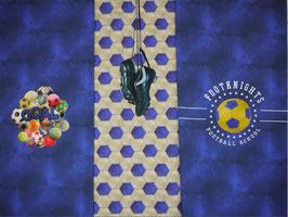 Jersey Panel blau mit Fußball/Goal/Fußballschuhe von Stenzo, Grundpreis: 15,90€/Stck