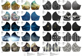 Masken-Panel für Erwachsene/Männer,  Bulli/Muster, 3,50€ der Streifen