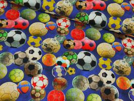 Jersey dunkelblau mit bunten Fußbällen von Stenzo, Grundpreis: 17,90€/m