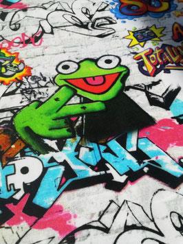 Jersey bunt, Grafitti Frosch, Grundpreis: 18,90€/m