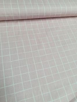 Baumwolle rosa mit großen Karos  in weiß von Stenzo, Grundpreis: 10,90€/m