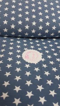 Jersey blau mit weißen Sternen von Swafing, Grundpreis: 15,90€/m