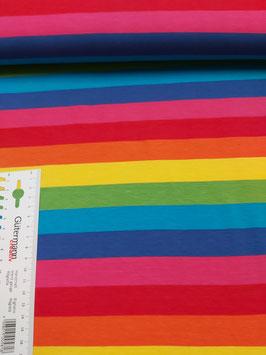 Jersey gestreift, bunte Regenbogenstreifen, Grundpreis: 17,90€/m