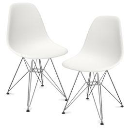 2er Set Eames Plastic Side Chair