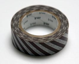 """Masking Tape """"braun, quergestreift"""""""
