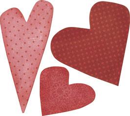 """Stanzschablone Bigz Die""""Hearts #4"""""""