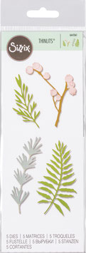 "Sizzix Thinlits Die Set "" Natural Leaves"""