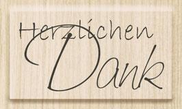 """Holzstempel """"Herzlichen Dank 1"""""""