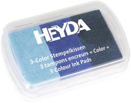 Stempelkissen 3 color Blautöne Heyda
