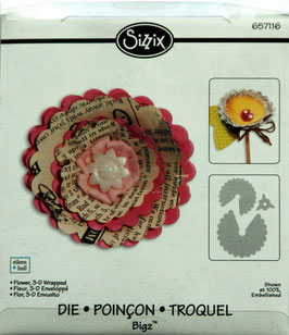 "Cuttlebug und Sizzix Big Shot Stanzschablone Bigz Die ""flower 3-D wrapped"""