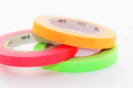 """Masking-Tape-Set 3 schmale Rollen """"uni neon orange, pink, hellgrün"""""""