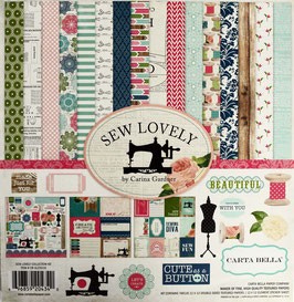 "Papierset ""Sew lovely"""