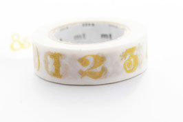 "Masking Tape ""Ziffern gold"""