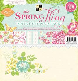 """Papierset """"Spring Fling Strasssteine"""""""