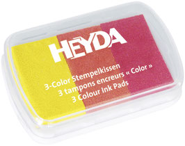 Stempelkissen 3 color gelb/orange/rot Heyda