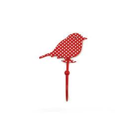 Haken, Vogel/Punkte, rot, H78