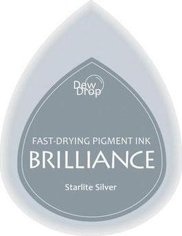 Pigmentstempelkissen Tropfen Brilliance, klein, Starlite silber