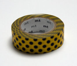 """Masking Tape """"Punkte gelb-schwarz"""""""