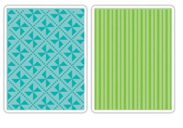 "Sizzix Textured Impressions Embossing Folders, ""Pinwheels & Stripes Set"""