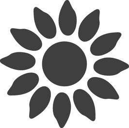 """Motivstanzer """" Sonnenblume"""" 1.2 cm"""