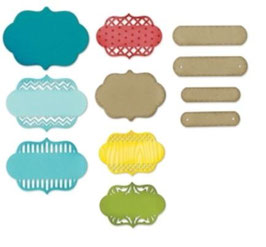 "Sizzix Thinlits Die, ""Ornate Labels, Lori"""