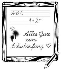 """Holzstempel """"Alles Gute zum Schulanfang"""""""