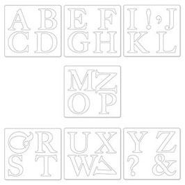 "Sizzix Bigz Dies Alphabet ""Serif Essentials"""