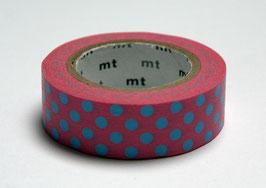 """Masking Tape """"Punkte rosa-hellblau"""""""