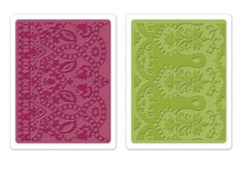 """Sizzix Textured Impressions Embossing Folders, """"Moroccan Daydreams Set """""""