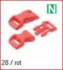 Klickschnalle 11/16 rot