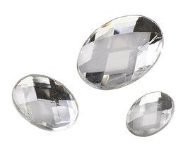 Glamoursteine oval, kristall