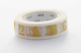 "Masking Tape ""Alphabet gold"""