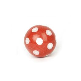 Möbelgriff A54, Ball, rot/weiss