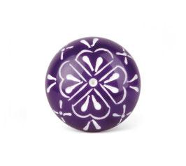 Möbelknopf A25, Blüte, violett